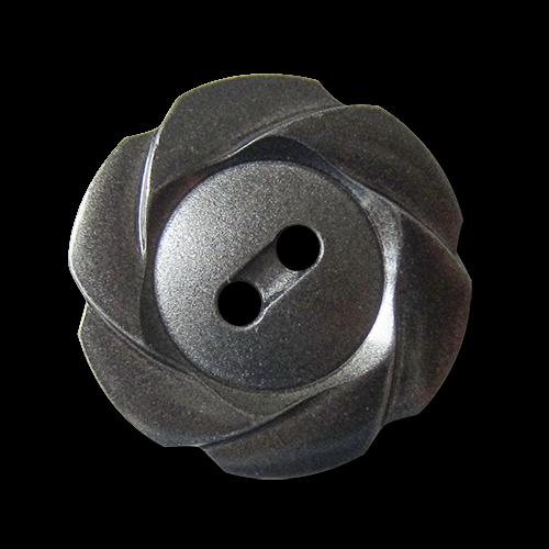 Verspielter dunkelsilberfb. Kunststoffknopf