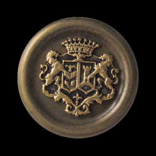 www.knopfparadies.de - 3135me - Messing. und goldfarbene Metallknöpfe mit Wappen