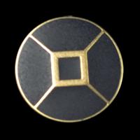 Edler Blazerknopf in goldfarben und matt schwarz