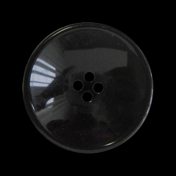 Großer schüsselförmiger Vierloch Kunststoff Knopf