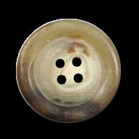 Hübscher matt braun melierter Knopf in Horn Optik