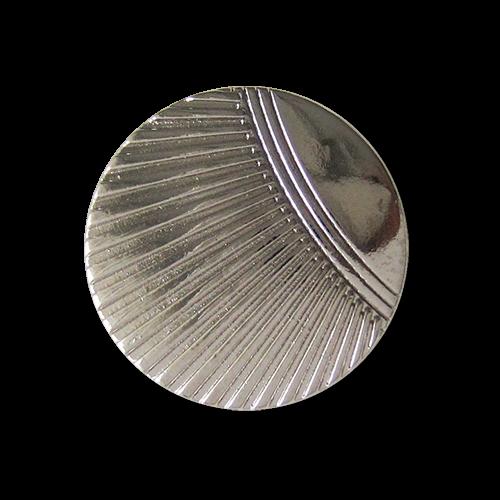 Schöne silberfarbene Metall Ösen Knöpfe mit stilisiertem Muschel Muster