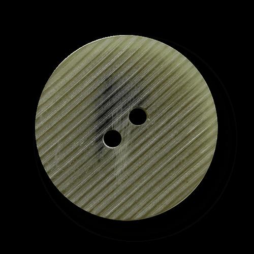 Hellgrau-grüner Mantelknopf mit zarter Riefelung