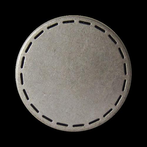 www.Knopfparadies.de - 3109as - Silberne Metallknöpfe in Vintage Optik mit durchbrochenem Kreis