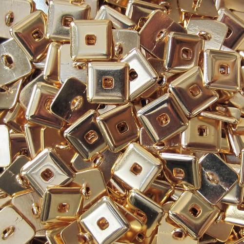 Quadratischer Metall Knopf mit Durchbruch
