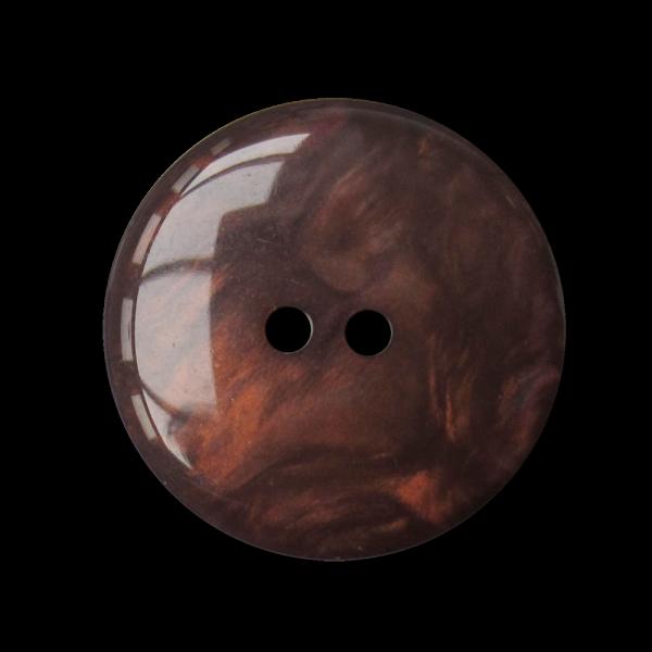 Großer perlmutt brauner Kunststoff Knopf / B-WARE