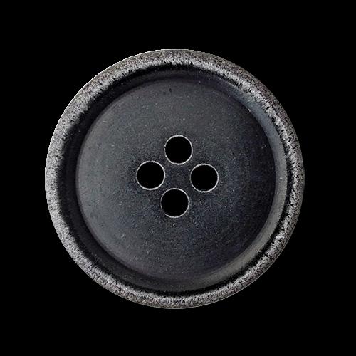 www.knopfparadies.de - 2354sc - Dunkelbraune, fast schwarze Kunststoffknöpfe, B-Ware!