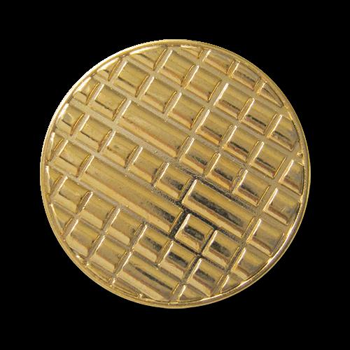 www.Knopfparadies.de - 3080go - Moderne Designerknöpfe aus Metall in Gold