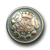 Knöpfe mit Monogramm und Krone