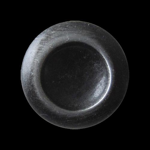 Schlichter schwarz eisen silberfb. Metall Ösen Knopf