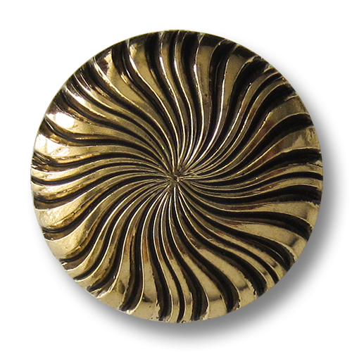 www.Knopfparadies.de - 5083ag - Edle goldene Zierknöpfe aus Kunststoff in Metall Optik