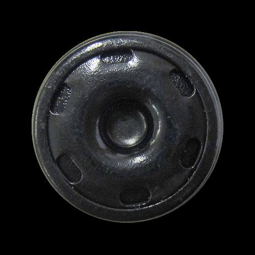 www.Knopfparadies.de - 1290sc - Schwarze Druckknöpfe aus Metall
