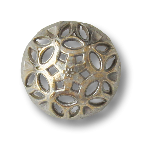 www.knopfparadies.de - 3362bi - Bicolor Metallknöpfe, deutlich gewölbt mit Durchbruchmuster