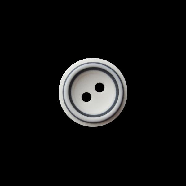 Pfiffige kleine weiß blaue Zweiloch Kunststoff Knöpfe für Blusen / Hemden