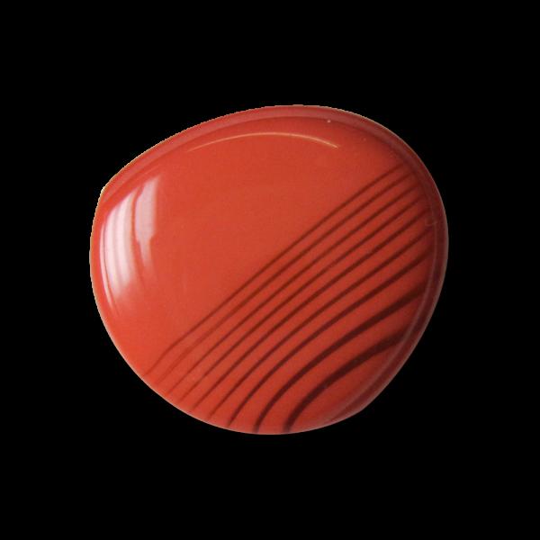 Unrunde pink-korallfarb. gemusterte Kunststoff Knöpfe