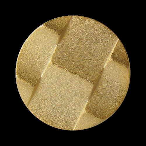 www.Knopfparadies.de - 0434go - Originelle goldene Metallknöpfe mit Öse