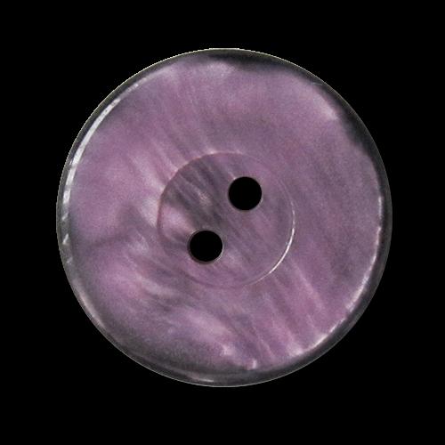 www.knopfparadies.de - 3334sl - Schwarz-lilafarbene Kunststoffknöpfe mit zwei Löchern