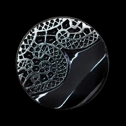 www.knopfparadies.de - 6192ss - Exklusive Kunststoffknöpfe mit Muster wie Spitze