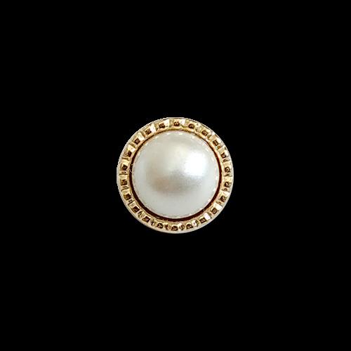 www.knopfparadies.de - 2187pg - Winzig kleine, dennoch schwere Blusenknöpfe mit Perle