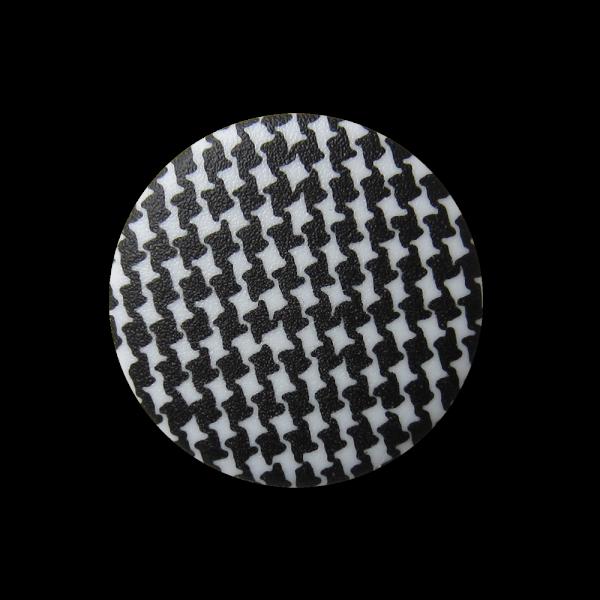 Modische Ösen Knopfe mit Pepita o. Hahnentritt Muster