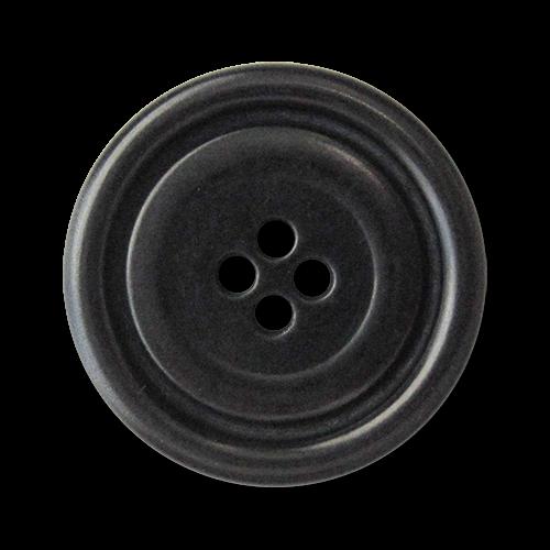 www.knopfparadies.de - 5932sc - Schwarze Steinnussknöpfe mit ausgeprägtem Rand