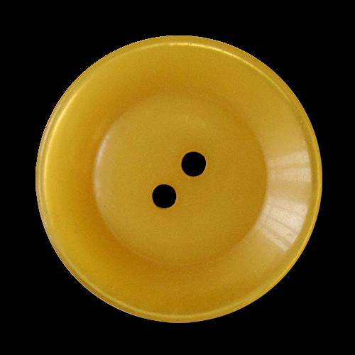 www.knopfparadies.de - 5818ge - Riesige Mantelknöpfe in schimmerndem Gelb
