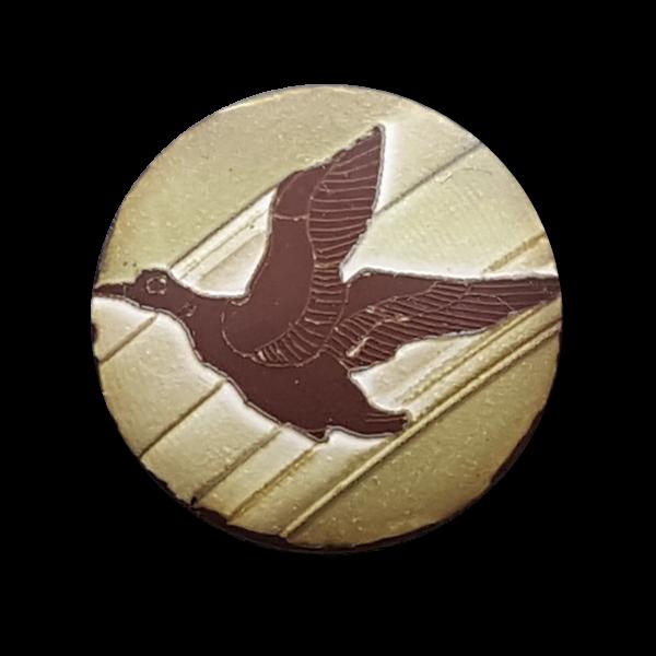 Hübsche Knöpfe mit Vogel, matt