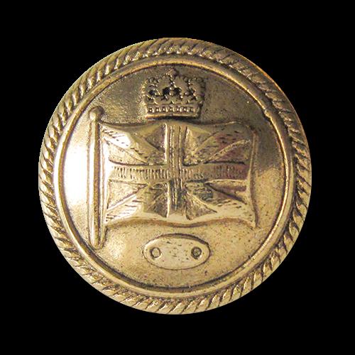 www.Knopfparadies.de - 0254ag - Majestätische Motivknöpfe aus Metall in Altgold