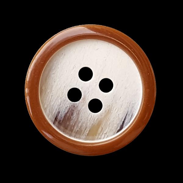 Grau-braun-melierter Basic Knopf