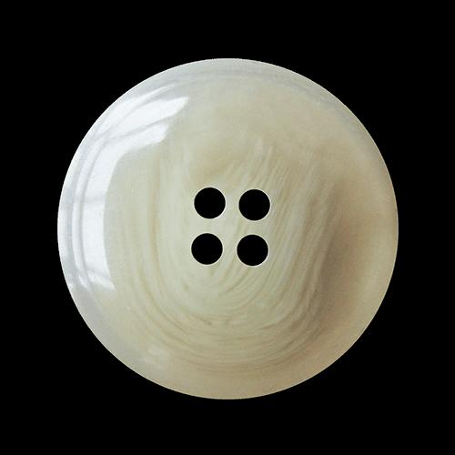 Klassischer großer beige grau weiß melierter Knopf