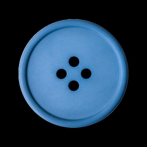 www.knopfparadies.de - 2177bl - Blaue Mantelknöpfe aus Kunststoff - B-Ware!