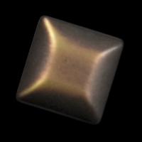 Attraktiver quadratischer Knopf bronzefarben