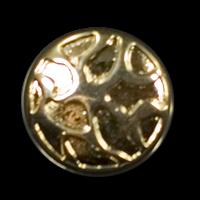 Extravaganter gold-glänzender Knopf