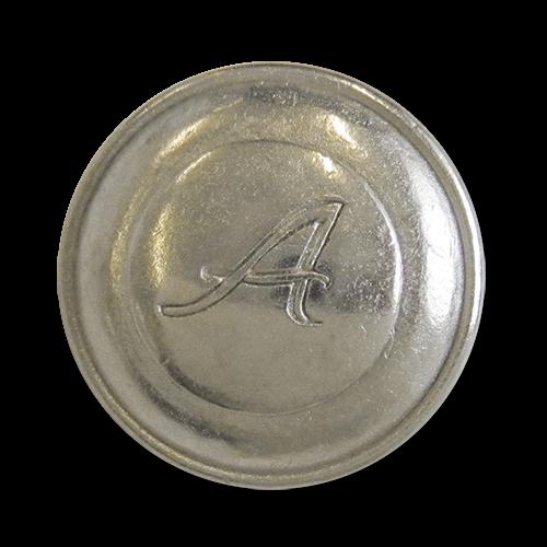 www.knopfparadies.de - 3156si - Silberfarbene Metallknöpfe - günstigere B-Ware