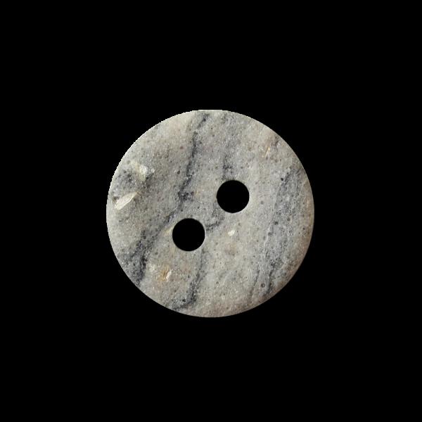 Kleiner grau beige marmorierter Zweiloch Knopf