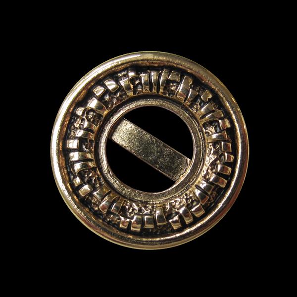 Sehr ausgefallener altgoldfarbener Metall Knopf