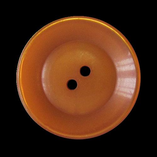 www.knopfparadies.de - 5818ap - Apricotfarbene Mantelknöpfe mit zwei Löchern