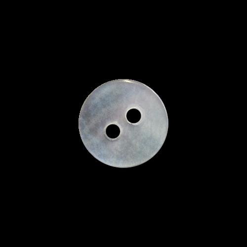 www.Knopfparadies.de - 4224pm - Kleine Zweilochknöpfe aus echtem Perlmutt in Silbergrau