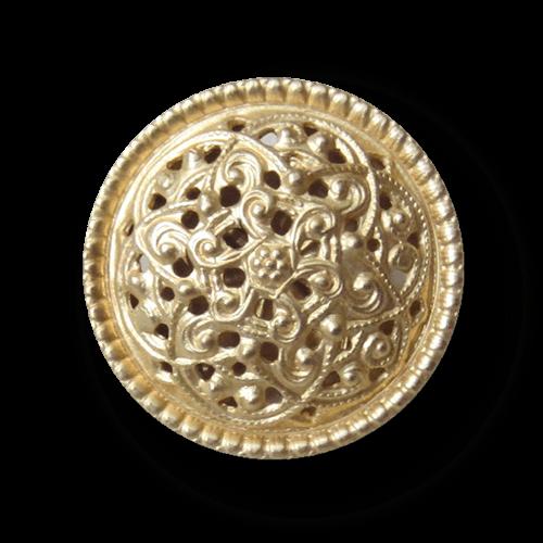 Nostalgischer Metall Knopf mit Durchbruch Muster