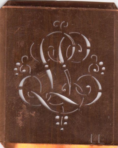 Monogrammschablone - LL-sch-561