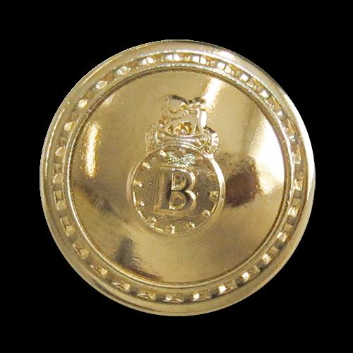 """Besonders edle Metallknöpfe in glänzend Gold, leicht gewölbt mit großem """"B"""""""