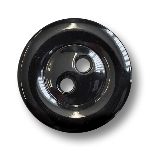www.knopfparadies.de - 6009sc - Schwarz glänzende Kunststoffknöpfe