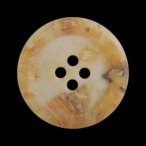 www.knopfparadies.de - 3536he - Mantelknöpfe aus Kunststoffmit Einschlüssen aus Stroh und Holzspähnen