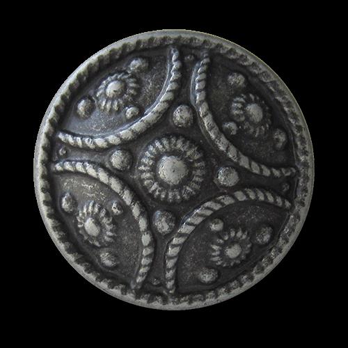 www.knopfparadies.de  - 1591ei - Historisch wirkende Metallknöpfe in Alteisen