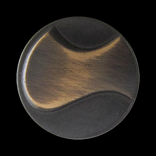 www.Knopfparadies.de - 1562em - Leichte moderne eisen messingfarbene Ösen Metallblechknöpfe