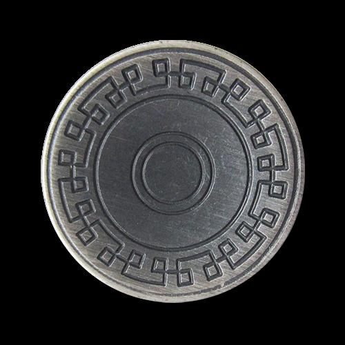www.knopfparadies.de - 5917ei - Bicolor Metallknöpfe, günstige B-Ware
