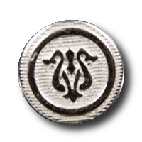 Metallknopfmit Jugendstil Muster