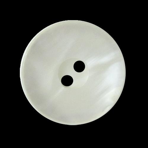 www.knopfparadies.de - 3564we - Weiß schimmernde Kunststoffknöpfe
