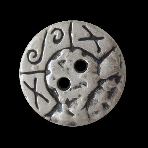 www.Knopfparadies.de - 0154as - Originelle Metallknöpfe in Silber mit Symbolen
