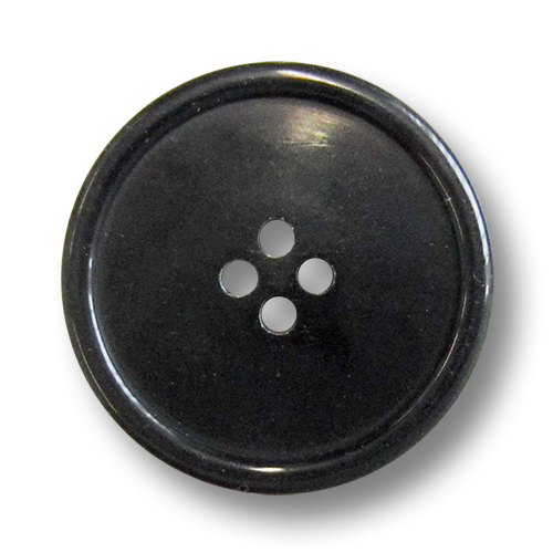www.knopfparadies.de - 5984sc - schwarze Kunststoffknöpfe mit vier Löchern